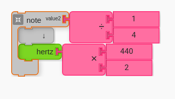 Pitch as Hertz = 440*2