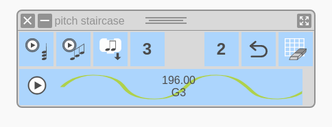 Pitch Staircase Widget as it opens by default.
