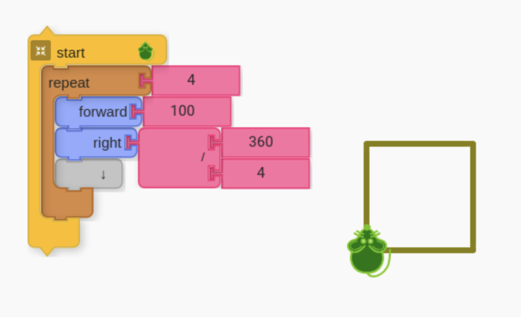 Square by restructured math with division